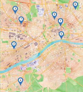 Karte der Bierpass-Lokalitäten